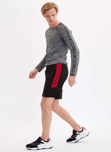 DeFacto Uzun Kollu Sporcu T-Shirt Gri
